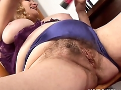 Super cute chubby old spunker loves to fuck her obese juicy pussy 4 U