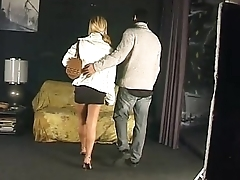 Amazing blonde fucked with force
