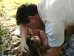 A young big tits girl looks a bitch upon a park and she'_s banged by a stranger