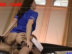 Cocksucking euro nurse doggystyled in trio