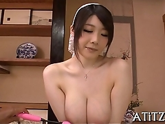 Big mounds asian'_s lusty insertion