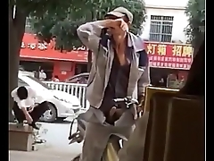 A chinese man'_s hard on in front of coffee shop - Bluedboy.blogspot.com