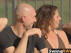 New couple gets amazed by the swinger lifestyle on this orgytine-1