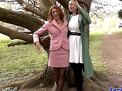 British milf sixtynining stockinged babe in arms